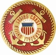 Military Pin: U.S. Coast Guard Red