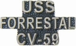 Military Pin: U.S. Navy USS Forrestal