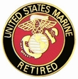 Military Pin: USMC Retired