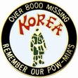 Military Pin: U.S. Korea Missing