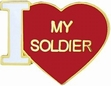 Military Pin: U.S. Army I Love My Soldier