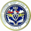 Military Pin: U.S. Navy USS JFK Round