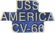 Military Pin: U.S. Navy USS America