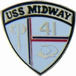 Military Pin: U.S. Navy USS Midway Large