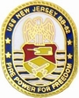Military Pin: U.S. Navy USS New Jersey Oval