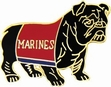 Military Pin: USMC Bulldog Red