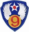 Military Patch: 9th Air Force