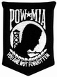 "Military Patch: POW/MIA (Black 4"")"
