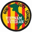 Military Patch: Vietnam God, Duty, Country