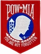 "Military Patch: POW/MIA (Red 4"")"