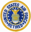 Military Patch: USAF Retired (Round)