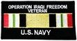 Military Patch: U.S. Navy Iraqi Freedom Veteran