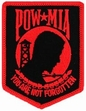 Military Patch: POW/MIA Black & Red