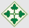Decals: U.S. Army 4th Div.