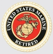 Decals: USMC Retired Round