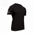 Tactical T-Shirt with Flag-Black