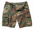 Military Shorts: Vintage Paratrooper Woodland Camo