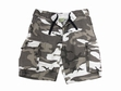 Military Shorts: Vintage Paratrooper City Camo