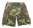 Military Shorts: Vintage Infantry Utility Woodland