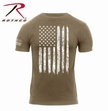 Distressed US Flag T-Shirt: Coyote Brown