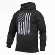 Concealed Carry Flag Hoodie-Black/White