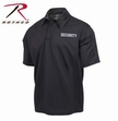 Moisture Wicking Polo: Black Security