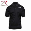 Moisture Wicking Polo: Black Police