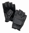 Black Tactical Fingerless Rappelling Gloves