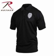 Moisture Wicking Polo: Black Security Badge