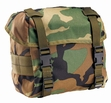 Military Packs: Enhanced Nylon Butt Pack Woodland
