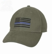 Thin Blue Line Flag Cap-Olive Drab
