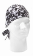 Headwrap-Black Skulls