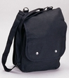 Shoulder Bag: Canvas Map Case Black