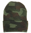 Acrylic Watch Cap-Woodland Camo