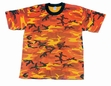 Camo Tee- Savage Orange
