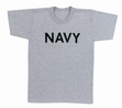 Physical Training  Wear: Grey Navy Tee
