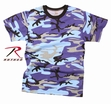 Camo Tee- Electric Blue
