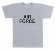Physical Training  Wear: Grey Air Force Tee