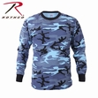 Long Sleeve Tee: Sky Blue Camo