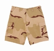 BDU Combat Shorts: 3-Color Desert Camo