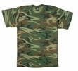 Kids Camouflage T-Shirt Woodland Heavy Weight