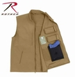 Concealed Carry Soft Shell Vest: Coyote Brown