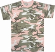 Camo Tee- Subdued Pink