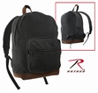 Vinatge Canvas Teardrop Backpack-Black